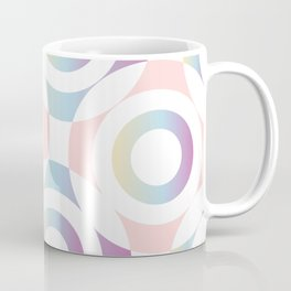 Circle composition in soft pastel colors Coffee Mug