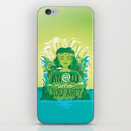 Know who you are iPhone Skin