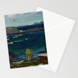 The Harbor, Monhegan Coast, Maine, 1913 Stationery Cards