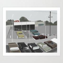 car lot Art Print