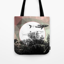 Underwater Abstract Fishes Design Tote Bag