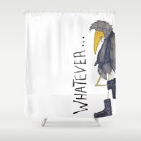whatever Shower Curtains featuring Whatever by Jennifer Geldard