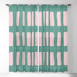 Handrawn Boho Rectangles No 03 Sheer Curtain