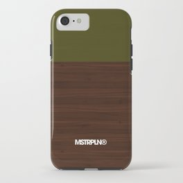 Modern Minimal Collection / Walnut iPhone Case