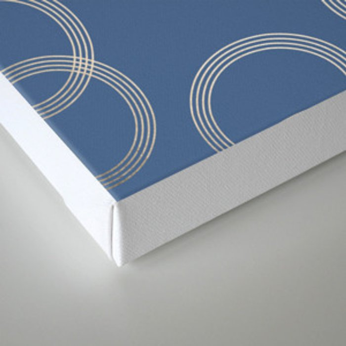Simply Infinity Link in White Gold Sands on Aegean Blue Canvas Print