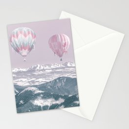Surreal Journey In A Hot Air Ballon Stationery Cards