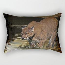 Night of the Cougar Rectangular Pillow