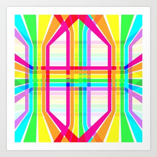 Weaved Rainbow Art Print