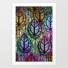 Multicolored Leaves Art Print