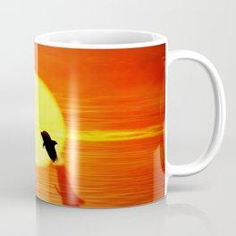 dolphin sunset jump Coffee Mug