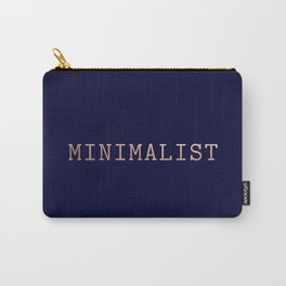 Dark Navy Blue and Copper Minimalist Typewriter Font Carry-All Pouch