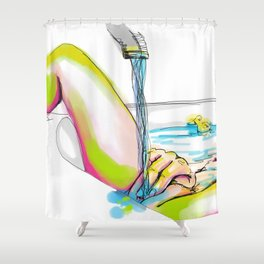 erotic art Shower Curtain