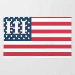 Hawaii American Flag Rug