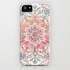 Autumn Spice Mandala in Coral, Cream and Rose Slim Case iPhone (5, 5s)
