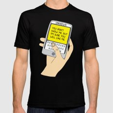 Sms from unknown MEDIUM Black Mens Fitted Tee