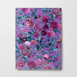 Romantic Floral Pattern Metal Print