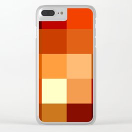 BLOCKS - RED TONES - 1 Clear iPhone Case