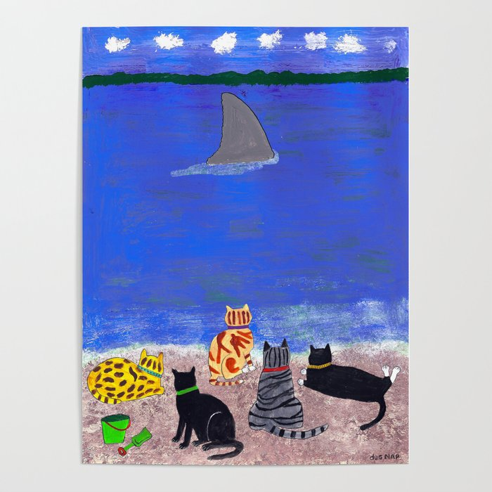 Cats on the Beach Poster
