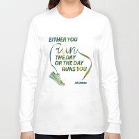 run Long Sleeve T-shirts featuring RUN by Mei Lee
