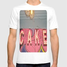 Cake ~ pop carnival signage Mens Fitted Tee White SMALL