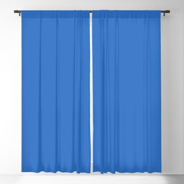 From The Crayon Box – Denim Blue Solid Color - Bold Blue Blackout Curtain