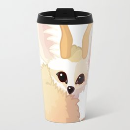 cute fennec foxes. Vector graphic character Travel Mug