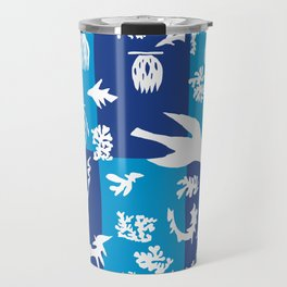 Matisse Cut Out Collage - Seascape Travel Mug