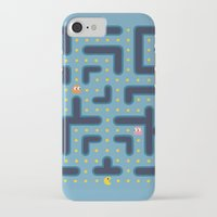 pacman iPhone & iPod Cases featuring RETRO GAME by Vickn