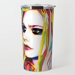 WPAP Avril Lavigne Travel Mug