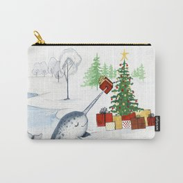 Christmas Narwhal Carry-All Pouch