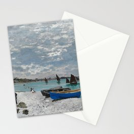 Claude Monet - The Beach at Sainte-Adresse Stationery Cards