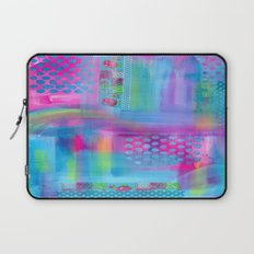 Pink with Blue Dots Laptop Sleeve