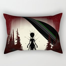 Aliens in the Forest Rectangular Pillow