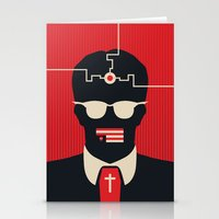 jfk Stationery Cards featuring JFK by Michael Fisher
