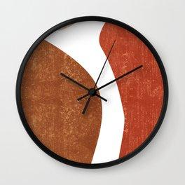 Terracotta Art Print 2 - Terracotta Abstract - Modern, Minimal, Contemporary Abstract - Brown, Beige Wall Clock