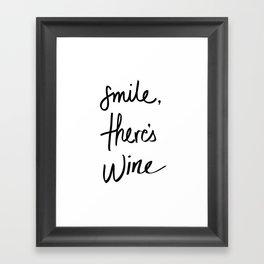 Smile - Wine Framed Art Print