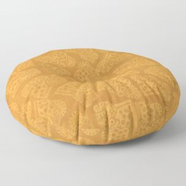 Ocelotl - Aztec Symbol for the Jaguar Warrior Floor Pillow