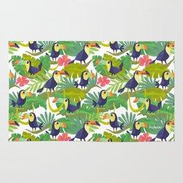 Toucan Paradise Pattern Rug