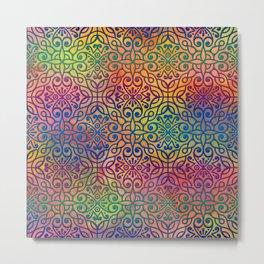 Colorful Moroccan pattern DP050-1 Metal Print