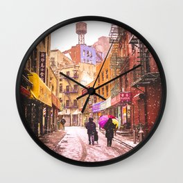 The Colors of Winter - New York City Wall Clock