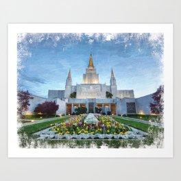 Oakland California LDS Temple Art Print