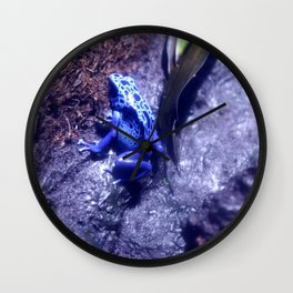 Mr Blue Frog Wall Clock