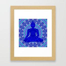 Blue Medicine Buddha Mandala Framed Art Print