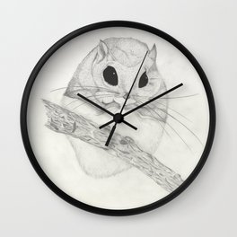 Fuzzball-white Wall Clock