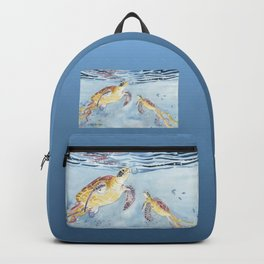 Take A Breath Sea Turtle Backpack