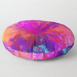 Colorful Splatter Floor Pillow