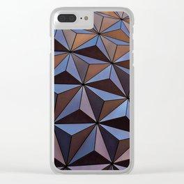 Triangle Steel patt Clear iPhone Case