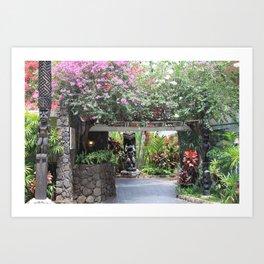 Waikiki Garden Art Print