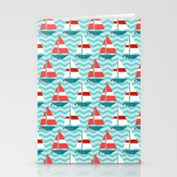 boat Stationery Cards featuring Boat by Valendji