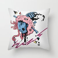 law Throw Pillows featuring LAW by bartd